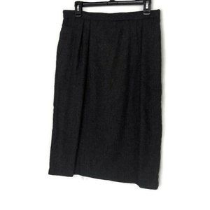 E.H. Woods Vintage Gray Pleated Front Skirt